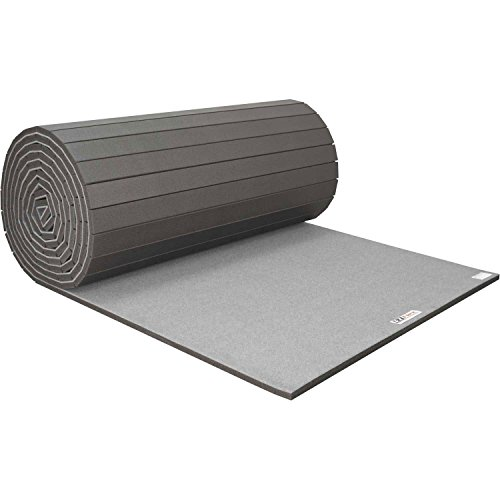 Cheerleading/Gymnastics Roll Mats, 42′ x 6′ x 1-3/8″, Gray
