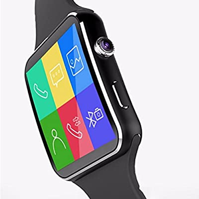 Touchscreen Bluetooth Smartwatch+ Unlocked Watch Cell Phone + Activity Tracker for Android/iPhone