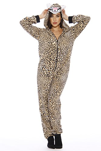 Just Love 6301-XL Adult Onesie Pajamas (Leopard Women Onesie)