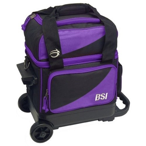 Bowlers Superior Inventory BSI Prestige Single Roller Bowling Bag- Purple/Black () by Bowlers Superior Inventory