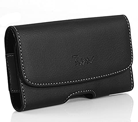 For LG Large Leather Case Holster fits w/ Otterbox on Nitro HD P930 (Lg Nitro Hd P930 Otter Box)