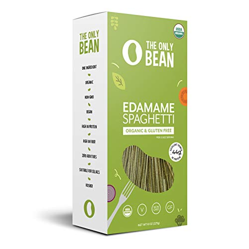 - The Only Bean - Organic Edamame Spaghetti Pasta, Gluten Free Noodles (8oz) (1 Pack)