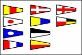 U.S. Navy Signal Code Flag Set – Set of 14 Flag– Nautical/Maritime / Marine/Boat / Ship/Vessel / Nautical Décor (5112) Review