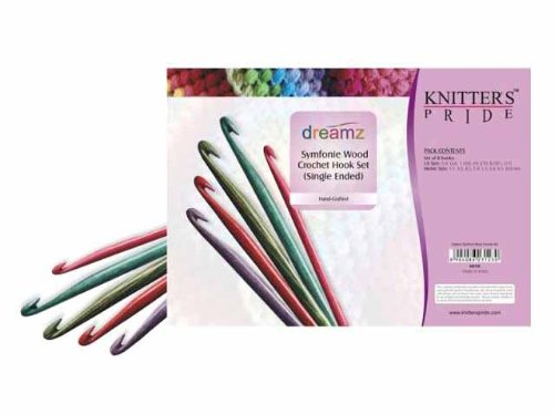 Knitter-s Pride Crochet Hooks Sets, Simfonie Wood Single (Knitters Yarn Palette)