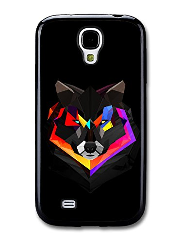 Abstract Colour Wolf With Black Background Illustration coque pour Samsung Galaxy S4