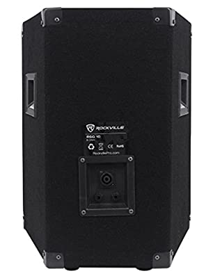 (2) Rockville RSG10 10 400 Watt 2Way 8-Ohm Passive DJ PA Speaker +Stands +Cables from Rockville