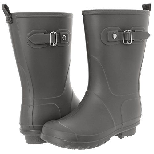 Capelli New York Mujer Matte Mid-calf Fisherman Rain Bota Gray