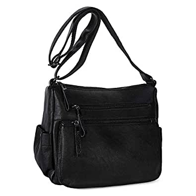 Women Hobo Shoulder Bag Soft PU Leather Crossbody Purse and Hangbags for Ladies Casual Daypack, Womens, Black #2, S-Small