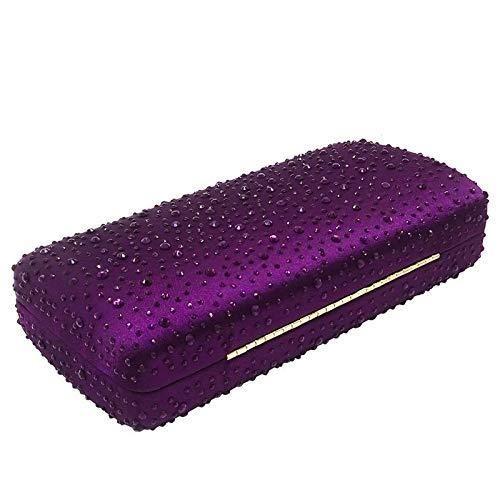 Señoras 19 Caliente Tarde Las Embrague Color De 5 Cadena La Suave Del Monedero Tamaño 10cm Yellow Rhinestone Bolso Purple Banquete Partido 7qTfvcPO