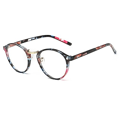 Lasree Prescription Glasses Fashion Full Rims Eyewear Reading Glasses +0.50 to +6.00 Lenses Unisex Readers Frame Floral Longsighted Spectacles