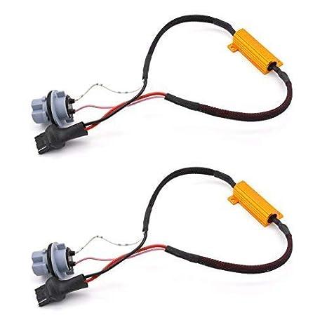 TUINCYN 2pcs 50W 8 ohm 7443 7444NA Led Load Resistor Fix Headlight LED Bulb Fog Lamp Fast Hyper Flash Turn Signal Blink Light Error Code Canbus Resistors Decoder