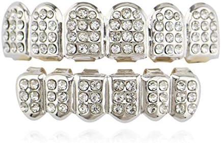 XHYT1017 Parrillas dentales Moda Electroplate Cobre Dientes ...