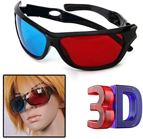 [해외]3D Glasses 3D Vision Glasses Red Garment Blue Plastic Frame TV Movie Dimensional Glasses / 3D Glasses 3D Vision Glasses Red Garment Blue Plastic Frame TV Movie Dimensional Glasses