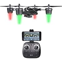 Contixo F7 RC Quadcopter Drone 2.4Ghz 6-Axis Gyro 4 Channels with 720p HD Camera, FPV Live Feed, Mobile Device App Control, Headless Mode (F7)