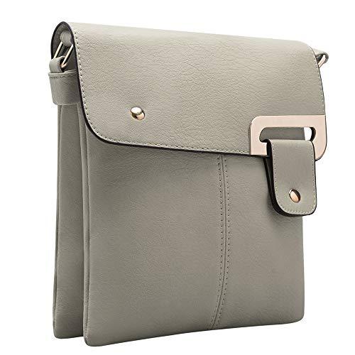 Ladies for Small GLITZALL Women Bag Fashion Wallet Messenger Leather Purse Grey Case Crossbody HxZ4znUwq