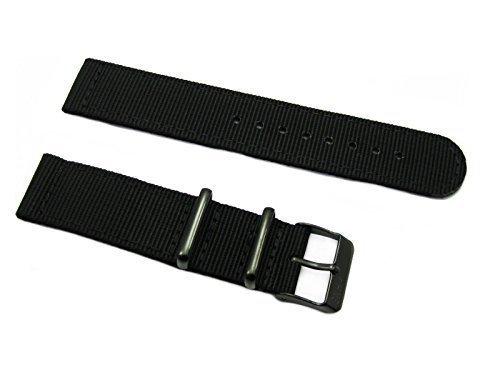 HNS-Nato-2-Pieces-22mm-Black-G10-Mod-Ballistic-Nylon-Watch-Strap-PVD-Buckle-NT140