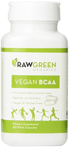 Crudo verde orgánicos vegano BCAA dieta suplemento 60 vegetales cápsulas
