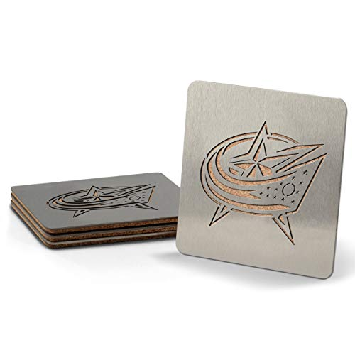 NHL Columbus Blue Jackets Boaster Stainless Steel Coaster Set of 4