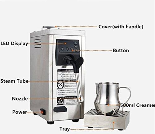 JIAWANSHUN Professional Espresso Coffee Milk Foam Machine Milk Frother Coffee Frothing Machine Milk Steamer Steam Coffee Milk Bubble Machine by JIAWANSHUN (Image #3)