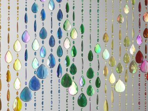 Beaded Door Curtain Multi Coloured