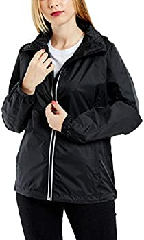 GG Golooper Womens Windbreaker Rain Jacket Waterproof with