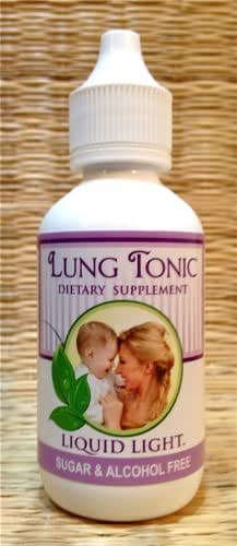 Lung Tonic (2 oz Bottle) - Immune, Coughing, Respiratory, Bronchitis Support. Pregnancy and Child Safe. Used Safely and Effectively for Over 20 Years.