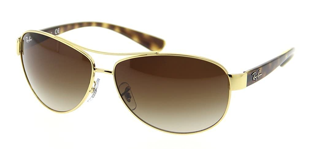 3d83f686b8 Amazon.com  Ray Ban RB3386 001 13 63mm Arista Brown Gradient Sunglasses  Bundle-2 Items  Clothing