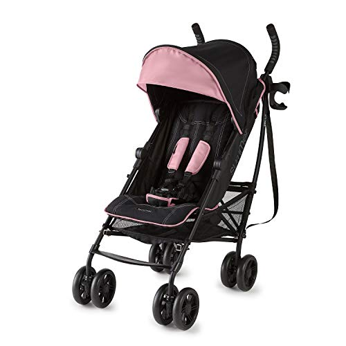 Summer Infant 3Dlite+ Convenience Stroller, Pink/Matte Black
