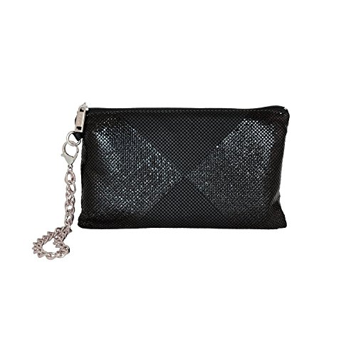 Davis Wristlet Black amp; Triangle Shine Matte Whiting Clutch SOF76qq
