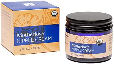 Motherlove Nipple Cream (2 oz.) Organic Lanolin-Free Herbal Salve for Soothing Sore Nursing Nipples – Unscented Ointment, No Need to Wash Off Prior to Breastfeeding, Great as a Pump Lubricant