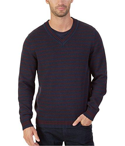 Nautica Striped Sweater - Nautica Mens Striped Pullover Sweater, Blue, Small