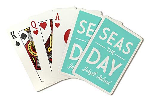 Jekyll Island, Georgia - Seas The Day - Simply Said (Playing Card Deck - 52 Card Poker Size with Jokers)