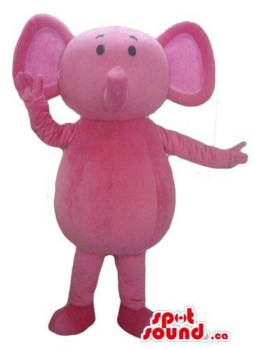 Cute pink rose Elephant SpotSound Mascot US costume wild animal fancy dress