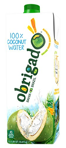 Obrigado Pure Coconut Water Premium, 1 L, 12 Counts by Obrigado Pure Coconut Water