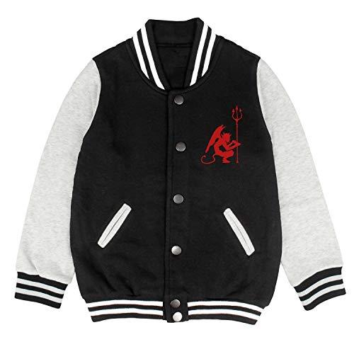 HKSDAS Devilish Devil Halloween Boys Unisex Baseball Jacket School Jackets Top 2-10 Year -