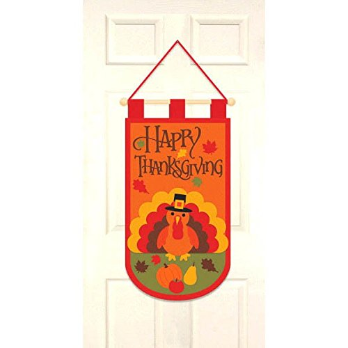 (amscan Thanksgiving Felt Door Banner | Party Accessory)