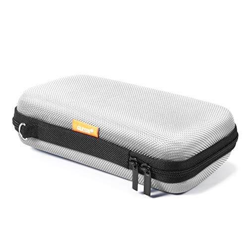 GLCON Portable Protection Hard EVA Case for External Battery,Cell Phone,GPS,Hard Drive,USB/Charging Cable,Carrying Bag Mesh Inner Pocket,Zipper Enclosure n Durable Exterior,Universal Travel Pouch Bag