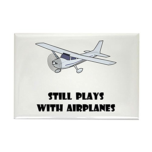 CafePress Still Plays With Airplanes Rectangle Magnet, 2