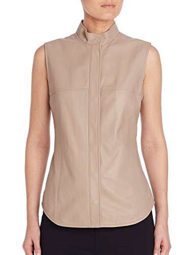 MaxMara Max Mara Ussel Leather Vest In Beige Size - Mara Sale Max