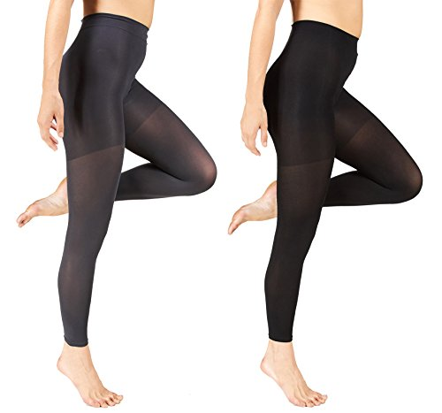 406d4af43a Marilyn Monroe Womens Ladies 2Pack Control Top Footless Opaque Tights (See  More Colors and Sizes