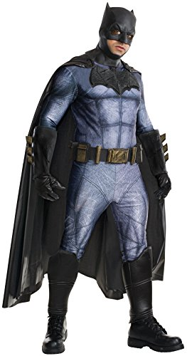 Superman Cosplay Costumes (Rubie's Men's Batman v Superman: Dawn of Justice Grand Heritage Batman Costume, Multi, One Size)