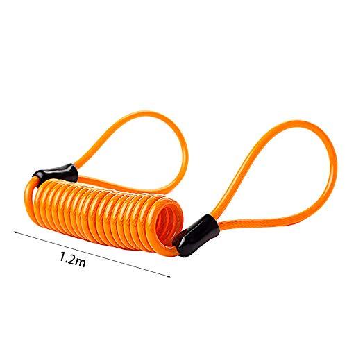 1.2m Cable de Rappel RC1 Cables Antivol /à Ressort pour Bloque Disque Moto V/élo Scooter Rappel dantivol Bloque-Disque Moto Memory C/âble Moto Jaune Oyfel