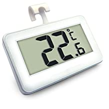 IVIDA Digital Wireless Freezer/ Refrigerator Thermometer and Indoor Temperature LED Monitor by IVIDA
