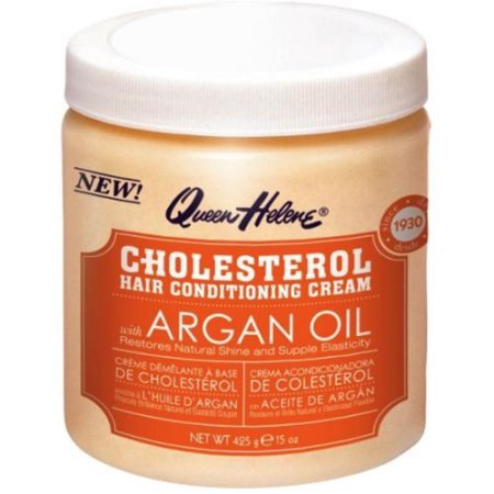 QUEEN HELENE Cholesterol Hair Conditioning Creme Argan Oil, 15 oz (Pack of 2) Scalp Conditioning Creme