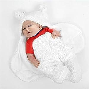 ZUHANGMENG Baby Sleeping Bag, Newborn Swaddling Blanket Split-Leg Sleeping Bag for Warmth, Ultra-Soft Plush (0-3 Months)
