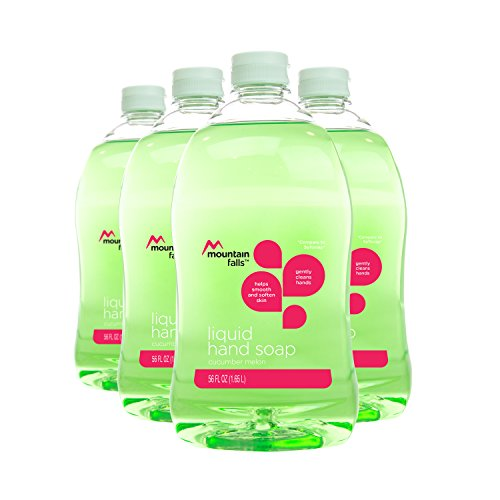 Mountain Falls Liquid Hand Soap Refill Bottle, Cucumber Melon, Compare to Softsoap, 56 Fluid Ounce (Pack of 4)