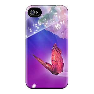 Bumper Hard Cell-phone Cases For Apple Iphone 4/4s With Customized Lifelike Roses On Bright Skin TrevorBahri