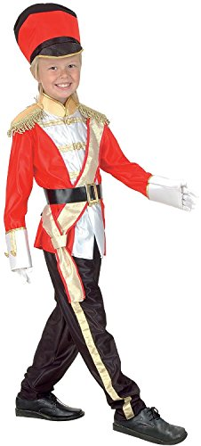 Boys Girls Kids Toy Tin Soldier Nutcracker Little Drummer Christmas Xmas Festive Fun Nativity School Play Fancy Dress Costume Outfit (4-6 years) -