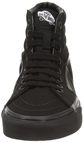 Vans Unisex SK8-Hi Canvas Black Sneaker - 9.5