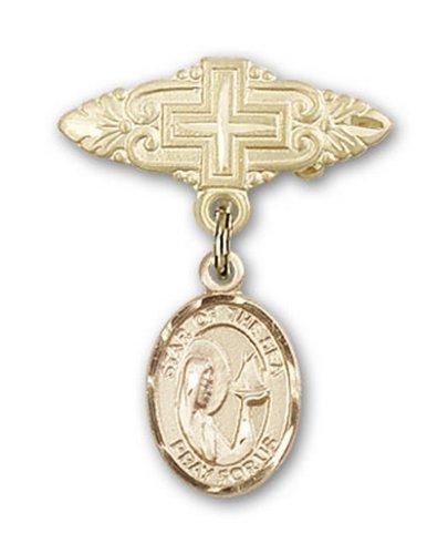 Icecarats Créatrice De Bijoux En Or Remplie O / L Étoile De La Broche Mer Badge Charme Avec Une Croix X 3/4